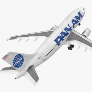 3D Airbus A310-300 Pan American model