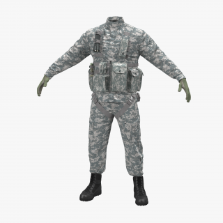 US Helicopter Pilot Uniform Camo 2 3D model