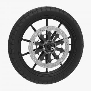 Motorcycle Front Wheel 2 3D model