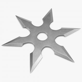 3D Shuriken Six Point model
