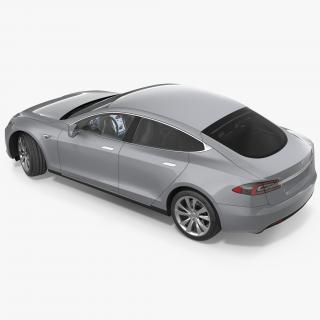 3D Tesla Model S 60 2017 Rigged model