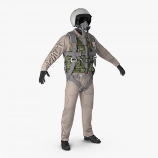 3D Russian Jet Fighter Pilot Uniform model