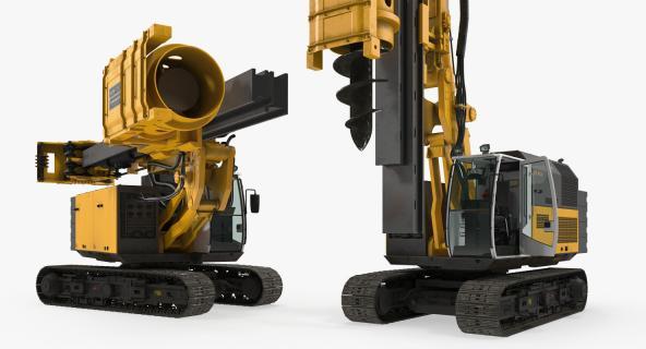 Drill Machine Bauer RG16T Rigged 3D