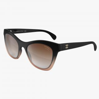Chanel Butterfly Pearl Polarized Sunglasses Brown 3D model