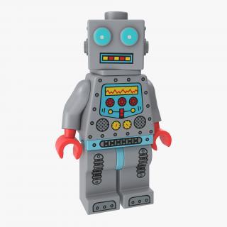 3D Lego Robot Minifigure