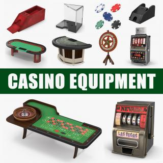 Casino Equipment Collection 3D