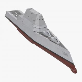 Zumwalt Class Destroyer US Stealth Ship 3D model
