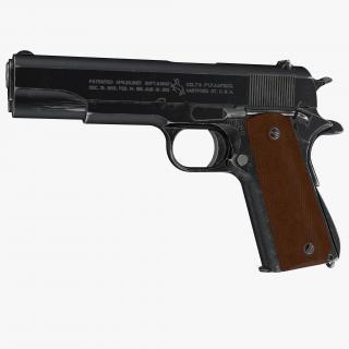 3D Colt M1911 Special Combat Pistol Black model