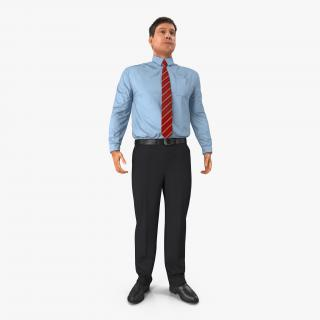 Office Worker Standing Pose 3D