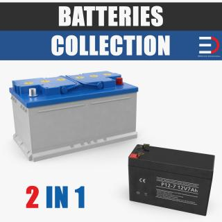 3D model Batteries Collection