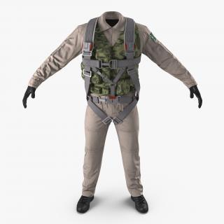 3D model Russian Jet Fighter Pilot Uniform 2