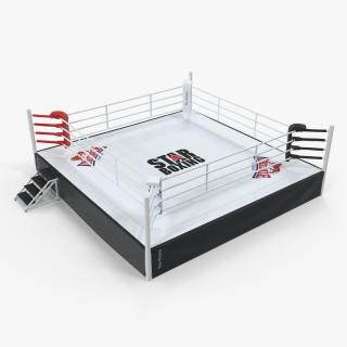Complete Competition Boxing Ring 3D