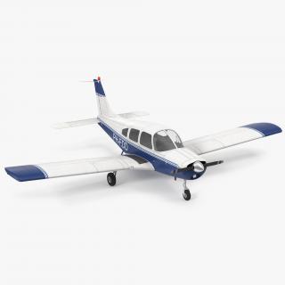 Light Aircraft Piper PA 28-161 Cherokee 3D model
