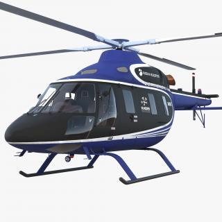 3D Light Helicopter Kazan Ansat model