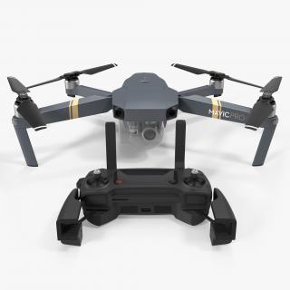 DJI Mavic Pro Quadcopter with Remote Controller 3D