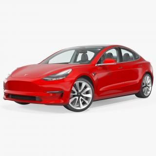 3D model Tesla Model 3 Rigged