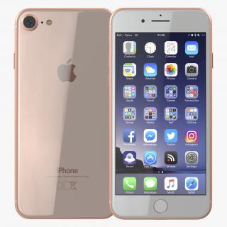 3D iPhone 8 Gold model