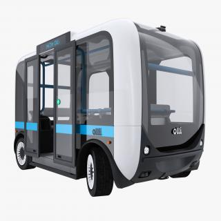 Olli Self Driving Electric Bus Rigged 3D