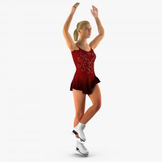 Female Figure Skater Rigged 3D