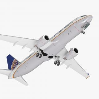 Boeing 737-800 United Airlines Rigged 3D