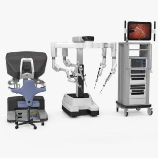 3D Da Vinci Surgical System Rigged