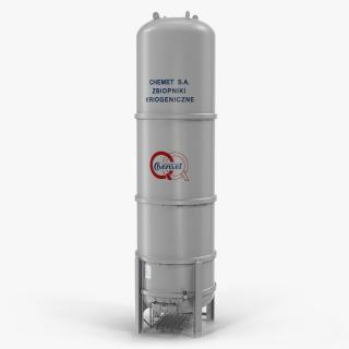 CNG and LNG Fuel Storage Tank 3D model