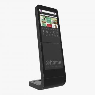 3D model Information Kiosk Touch Screen