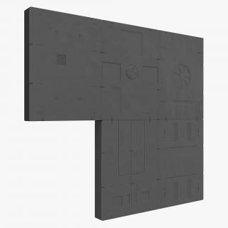 3D model Sci-Fi Painted Panels Set