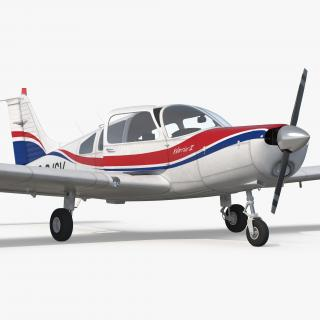 3D model Piper PA28-161 Cherokee Rigged