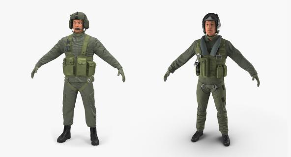 US Military Pilots Collection 3D model