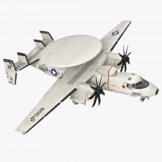 3D Grumman E-2 Hawkeye Tactical Early Warning Aircraft
