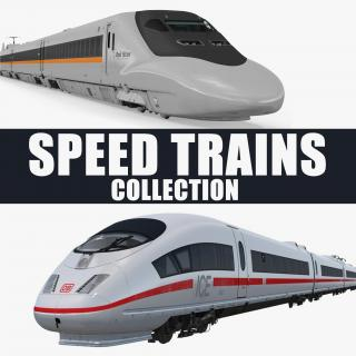 3D Speed Trains Collection model