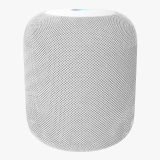 3D Apple HomePod Smart Speaker White model