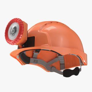 Miner Helmet With Lamp 3D