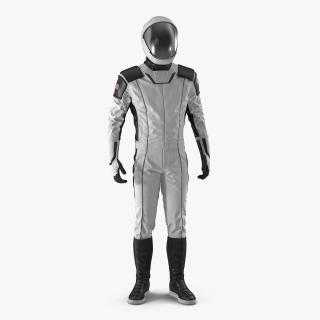 3D model Futuristic Space Suit Standing Pose