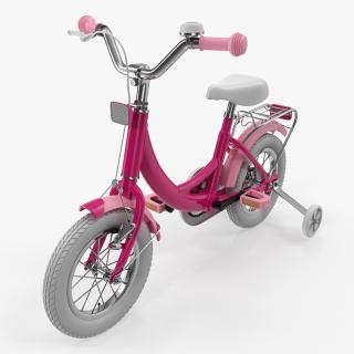 3D Girls Kids Bike with Training Wheels