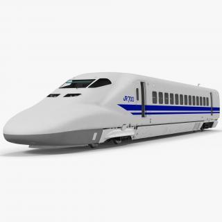 3D Bullet Train JR700 Locomotive Japan Railways Rigged