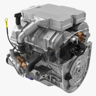 3D V6 Car Engine 3.6 Litre model
