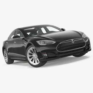 3D Tesla Model S 60D 2015 Rigged 3D Model model