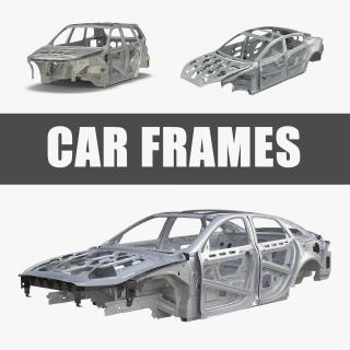 3D Car Frames Collection 3D model