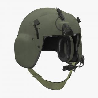 3D model US Military Helicopter Pilot Helmet