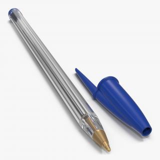 3D Transparent Plastic Ballpoint Pen model
