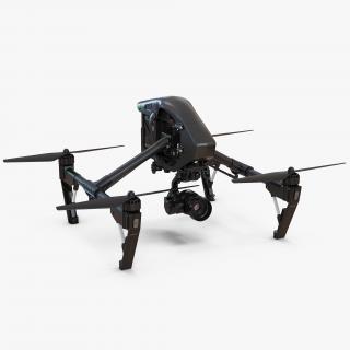 3D DJI Inspire 1 Quadcopter Black Edition model