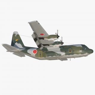 3D Lockheed C-130H Hercules L-382 Japan Air Force Rigged model