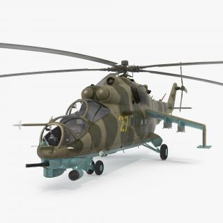 3D Russian Helicopter Mil Mi-24 model