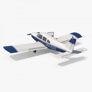 3D Light Aircraft Piper PA-28-161 Cherokee Rigged
