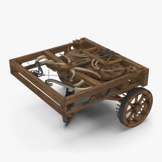 3D model Leonardo Da Vinci Automobile Rigged