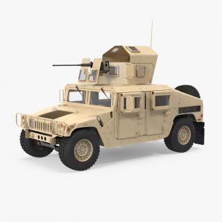 3D model Humvee M1151 Enhanced Armament Carrier Desert