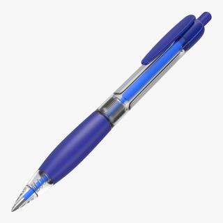 Ballpoint Pen Blue Ink 3D