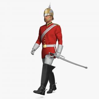 3D British Royal Lifeguard Walking Pose
